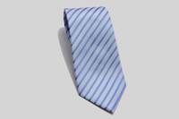 Normal Men Silk New Arrival ! Top Quality Light Blue Silk Striped Men's Formal Tie Shirt Tie 1 Pcs E008