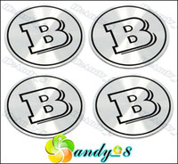Wholesale 440pcs Brabus B Aluminum Alloy Car Emblem Wheel Center Caps Cap Sticker Badge Badges Emblems Free