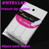 Wholesale AL012 Nail Art French Tip Guides Sticker C Style Guides Sticker DIY Stencil Retails N