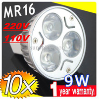 Wholesale On sales DHL FREE MR16 GU5 V V W LED SpotLight Bulbs Energy Saver lamps downlights X3W