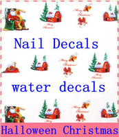 Wholesale water stickers water transfer nail art sticker water decals French style nail stickers