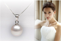 Wholesale Luxury gorgeous MM MM colors sterling silver freshwater pearl necklace pendant bridal jewelry