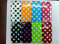 Plastic For Apple iPhone  Glossy Coating Polka Dot Spot Soft Skin Back Case Cover For iPhone 5 5G 5th 8 colors 200pcs lot