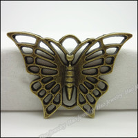 Wholesale Fashion Butterfly Charms Pendants Antique bronze zinc alloy Necklace Jewelry Craft