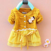 Baby Long- sleeved Chiffon Veils Dresses 3 Colors Stock Child...