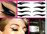 Wholesale 200sets Eye Tattoo Eye liner Sticker Shadow Smoky Eyes black eyeliner pairs per set