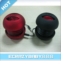 Wholesale X Mini Capsule Speaker Mini Loudspeaker Subwoofer for iPhone S iPod Touch iPod nano