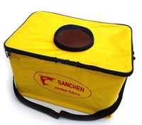 Wholesale Fishing gear portable contraction Fishing bucket fish storage bag fishing rods Canvas folding tank
