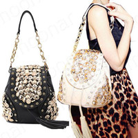 Wholesale 2 Ways Use Women s Button Embellish Shoulder Bags Backpack Casual Purse B500