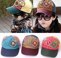 Wholesale NEW Children applique peaked cap Baby baseball hats sunbonnet A0101A