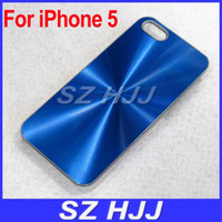 Wholesale Plastic Back Cases Metal CD Blink Protective Cover With Clear Bumper For iPhone G th S New iPhone5 S