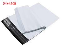 Promoción 54cmx42cm autosellará valijas blanca bolsas de mensajero del sobre de plástico de correo postal 100 piezas