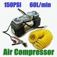 Wholesale 12V PSI L min Portable Air Compressor Pump with Manometer for Cars Trucks Motorcycles