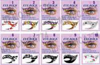 Wholesale DHL Free Ship Colorful Sexy Lady gaga Vintage Eye liner Sticker Shadow Sticker Smoky Eyes Sticker