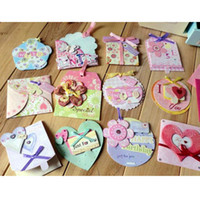 Wholesale 3D gift card adorned with colorful ribbon smart greeting card birthday card love heart card
