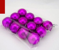 Wholesale 4cm pc Purple Color Christmas Tree Decoration Glazed Ball Plating Ball Christmas Ornaments Tree