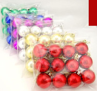 Wholesale Multicolor cm pc Christmas Tree Decoration Glazed Ball Plating Ball Christmas Ornaments Xmas Ball
