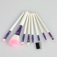 Wholesale 8Pcs Professional Cosmetic Brush Set Make Up Brush Set With Case Pink Ship From USA Sets H2025