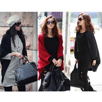 Wholesale NEW Women Fashion Leisure Cardigan Knitting Coat lady Batwing Cape Poncho Cardigan Sweater G0025