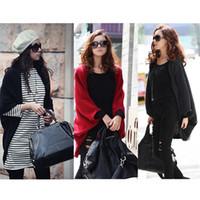 Wholesale NEW Women Fashion Leisure Cardigan Knitting Coat lady Batwing Cape Poncho Cardigan Sweater G0025Z