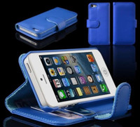 Wholesale Folio Wallet Leather Book Style Flip Stand Case Bag Cover with Card Slot Holster for Apple iPhone G iphone5