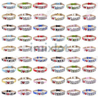 Wholesale I Love One Direction Wristbands Zirconia Crystal Slider Letter Bracelet Bangle DIYB661 DIYB666