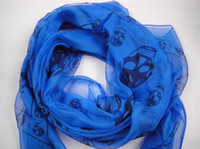 Wholesale 20pcs New Arrival Fashion Skull Scarves Shawls Xmas Gift Best Selling Mix Order