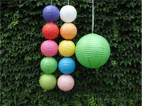 Wholesale 20pcs cm paper lanterns lamp festival decoration round paper lanterns paper lamp for wedding