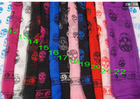 Wholesale sdgfsfg New Arrival Fashion Skull Scarves Shawls Xmas Gift Best Selling Mix Order
