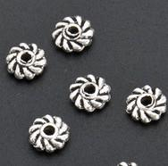 Spacers bead spacers - Hot MIC Tibetan Silver Twist Daisy Spacers Beads x5x1 mm L670