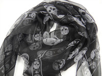 Wholesale fdgrtew New Arrival Fashion Skull Scarves Shawls Xmas Gift Best Selling Mix Order