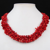 Wholesale 2Pcs Natural Red Coral Gemstone Chips Beads Toggle Clasp Elegant Necklace Jewelry Christmas Gif