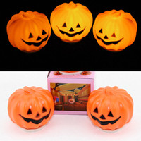 halloween pumpkin light - Halloween Pumpkin Lights Bar Props Pumpkin Night Lantern Ornament Led Switch