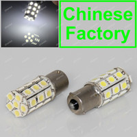 Wholesale White LED BA15S P21W S25 Car Reverse Turn Signal Rear Tail Brake Light Bulb V