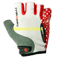 Wholesale 1 pair castelli Bicycle motorcycle gloves Men s Cycling free running gloves white black red bike fingerless sport gloves
