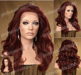 Wholesale 16 quot Lace Front synthetic Heat Friendly Wigs women hair wig Bodywave J