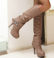 Wholesale Stylish leather material Gaotong women s boots sweet popular elegant boots Z930