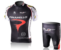 Wholesale Cycling Wear PINARELLO TEAM RED Short Sleeve Cycling Jerseys Shorts Set Cycling Clothing