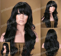 "black water wave synthetic hair 16""-28"" Lace Front synthetic Heat Friendly Wigs women hair wig wave #1"