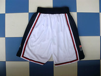 Wholesale Basketball Shorts Dream Team White Color Size M L XL XXL Mix Order Stitched High Quality