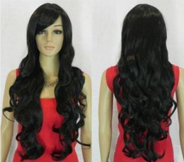Wholesale New style long black curly healthy women hair wig