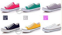 Wholesale Unisex canvas shoes Low Top amp High Sport Shoes High quality canvas shoes