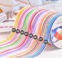Wholesale New hot sale Nylon Organza Printed Ribbon Candy stripe ribbon DIY headband bows Y roll FREE SH
