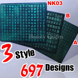 697 Designs (A + B + NK03) Nail Art Large Stamping Plate Stamp XXL Image Stencil Print Template DIY