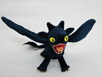 Wholesale HOT Toothless Night Fury Plush How To Train Your Dragon plush toy doll Posable Wings plush doll