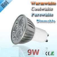 12v 9W White cheap price for Dimmable GU10 3X3W 9W 85-110V 220-240V LED Light LED Bulb Lamp LED Spotlight