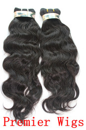 Wholesale 10 quot quot Russian Virgin Hair Weave Human Extensions Machine Wefts quot quot Natural Wave OZ pc