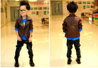 Boy kids leather jackets - 2012 Autumn Children Fur Clothing Boys Fur Coat Jacket kids leather jacket Collar zipper boy outwear