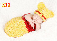 Wholesale Crochet baby hats sleeping bag infant sleep sack cocoon baby crochet pattern photography props