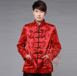 Wholesale Dong Tang Boutique marriage wedding brocade men s spring and autumn long sleeved T shirt of the